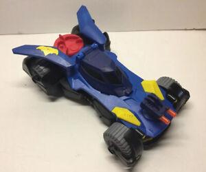 2015 Imaginext DC Super Friends Blue Batman Batmobile Vehicle Car Mattel