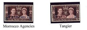 Morocco Agencies & Tangier Never Hinged UMM 1937 Coronation Set