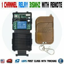 12V 1CH Channel Wireless Remote Control Relay Switch RF Transmitter Receiver 10A