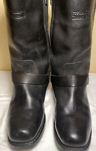 Harley-Davidson Mens 8.5D Waterproof Black Leather Harness Boots Model 95353