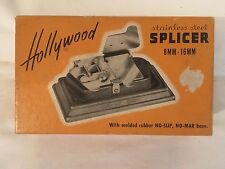 VINTAGE MOVIE FILM SPLICER 8/16mm PRECISION UNIVERSAL HOLLYWOOD STAINLESS STEEL