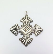 .Beautiful 1973 Christmas Cross Reed & Barton Sterling Silver Ornament 16.67g