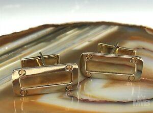 Pair Men's 14k White & Yellow Two Tone Gold Italian Cufflinks 14 Grams MAS NR