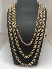 Gold 18k GF Childrens Belcher Bracelet Chain Baby Boys Girls Made to measure UK