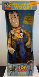"""Vintage Toy Story Adventure Buddy Woody Doll 20"""" Thinkway Toys NEW"""