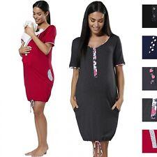 Happy Mama Women's Maternity Nursing Delivery Hospital Gown Nightwear 209p