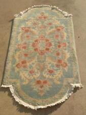 "Antique Chinese Art Deco Feti Nickuls Oriental Rug Carpet European shape 28x54"""