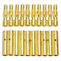 10Pairs 4mm Gold-plated Banana Plug Jack Male Female Connector For RC Battery US