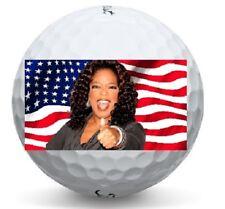 1 Dozen Oprah For President 2020 Logo Us Flag Warbird Mint Golf Balls