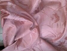 5 yards Cotton Blend Jacquard Upholstery Fabric Rusty Rose