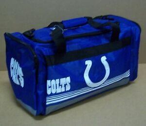 Indianapolis Colts Medium Striped Duffle Bag Core