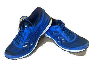 MENS ASICS GEL-KAYANO 24 RUNNING TRAINERS SIZE 10.5 UK Blue