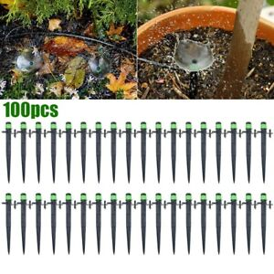 100pcs Micro Drip Irrigation Garden Watering System Emitter Drippers Sprinkler