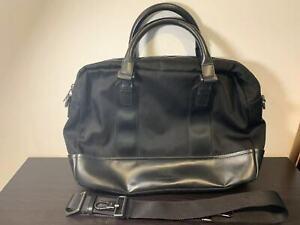 Armani Collezioni Men's Handbag Black Leather & Polyester (YAN243 YH108 37116)