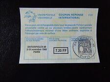 """1988-coupon réponse international """"entierphilex 88 Paris"""""""