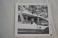 Vintage Car Photo Woman in Window of 1957 Ford 829