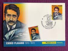"""2010 Cartolina Filatelica FDC """"Ennio Flaviano"""" Annullo PESCARA CENTRO"""