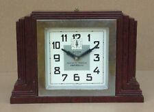 Ancien réveil à clé BAYARD ART DÉCO BAKELITE BUILDING vintage old alarm clock