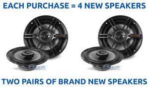 4) Crunch CS653 300 Watt 6.5 inch 3-Way Coaxial Car Stereo Speakers (2 PAIRS)
