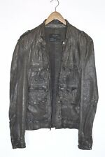 **AWESOME SAUCE** AllSaints Mens COMBAT Leather Shirt Jacket SMALL / MEDIUM