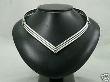 collier argent massif design vintage 56gr necklace sterling solid silver fashion