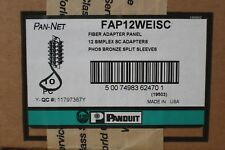 PANDUIT FAP12WEISC PAN-NET SC Fiber Adapter Panels – OM1 62.5/125μm 10 UNITS/BOX