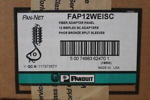 PANDUIT FAP12WEISC PAN-NET SC Fiber Adapter Panels – OM1 62.5/125μm 10 UNITS/BOX