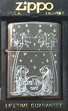 Hard Rock Cafe SINGAPORE Etched Silver Chrome ZIPPO Lighter MERLIONS & PALMS New