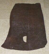 (Cbe10299-1) Part Hide of Dark Brown Printed Cow Suede Leather Hide Skin