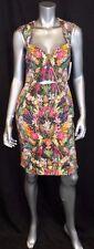 NICOLE MILLER ARTELIER NWT Green/Pink Pineapple Print Sleeveless Dress sz 8 $355