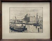 Im Hafen von Heiligenhafen 1939 Friedrich Traulsen 1887-1971 38,5 x 49,5 cm