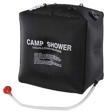 Ducha solar 40 litros negra camping compacta ligera portatil agua caliente
