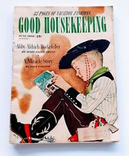 GOOD HOUSEKEEPING Magazine Vintage June 1950 Fashion Architecture Ads