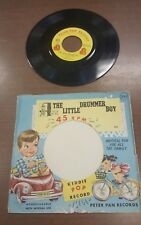 Vtg 1956 Peter Pan 45 Record Little Drummer Boy Bicycle Built For Two