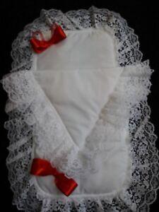 Red/White Dolls Pram Set  (please see sizes)