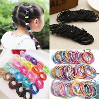 100pcs Kids Girls Elastic Scrunchies Rubber Hair Ties Ponytail Holder Band Rope