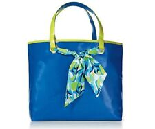 """TAYLOR BY TAYLOR SWIFT LARGE 17½"""" X 12"""" NEON GREEN BLUE GIFT BAG TOTE PURSE NWT"""