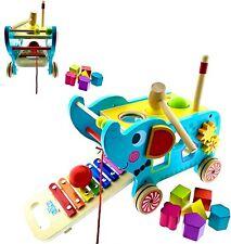 RB&G Activity Elephant 3 in 1 Lernspielzeug / zum Nachziehen / aus Holzspielzeug