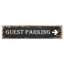 SP0014 Guest Parking Street Sign Bar Store Shop Pub Cafe Home Shabby Chic Decor