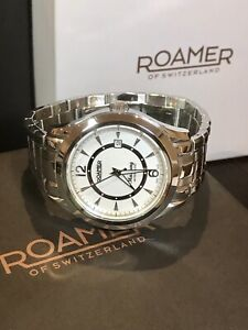 ROAMER Mustang Classic Date Men's Bracelet Automatic 21J Watch 931639 10ATM 43mm
