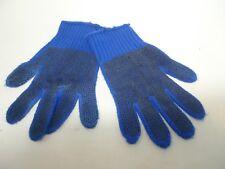 Large Vintage Pair Work Gloves Estate Item D L Silicone Grip Gloves Blue Black