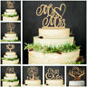 """""""Mr and Mrs"""" And Groom Wood Cake Topper Cake Decorations Wedding Supplies"""