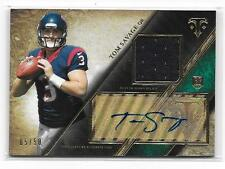 2014 Triple Threads Green TOM SAVAGE AUTO RELIC Rookie RC 05/50 Houston Texans