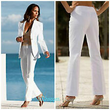 BOSTON PROPER Grommet Stripe Sash Tie White Trouser Pant Dress Pants NWT 12