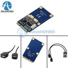 Mini PCIe PCI-E to USB Adapter mPCIe to 5 Pin 2 Ports Dual USB2.0 Converter Card
