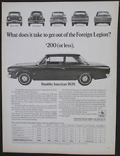 Rambler 220 Comparison With Foreign Cars 1967 Original Print Ad