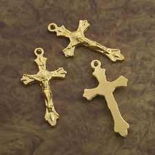 12pcs  gold tone crucifix cross charms  X0256