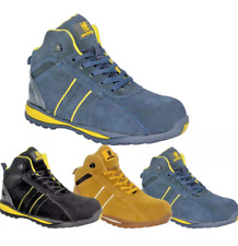 MEN'S STEEL TOE CAP SAFETY WORK LACE UP TRAINERS BOOTS SHOES UK SIZE 3-14
