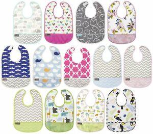 Kushies Cleanbib Infant or Toddler Waterproof Clean Bib with Pocket - K281
