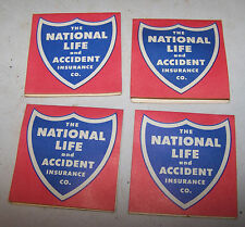 4 Vintage The National Life and Accident Insurance Co Sewing Needle Books